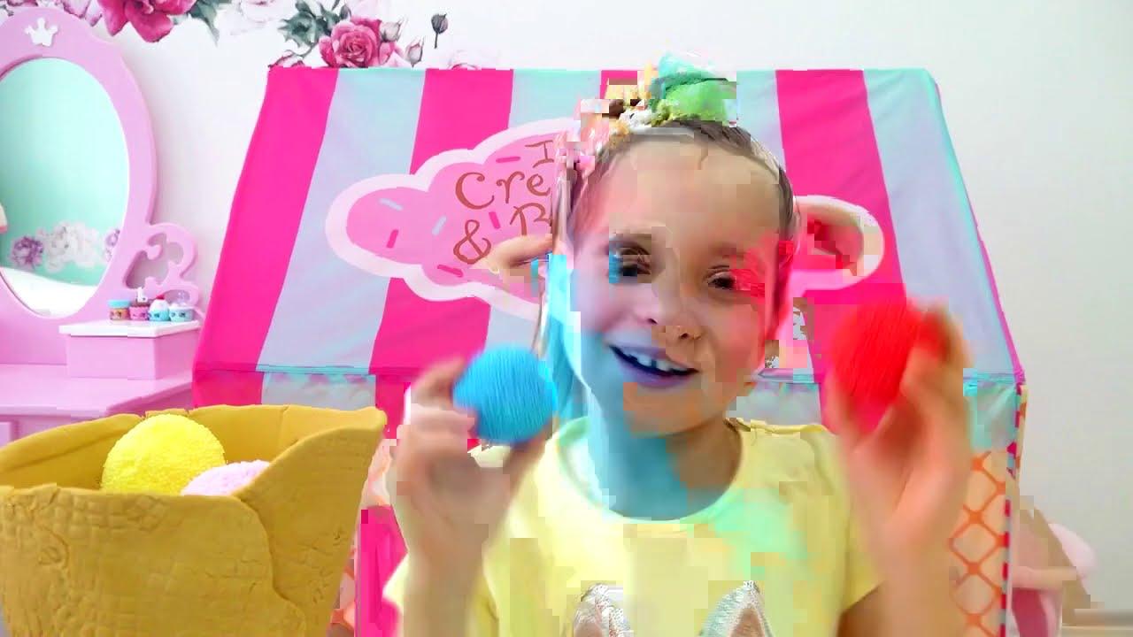 صوفيا و الايسكريمات الشهية!! Sofia makes Delicious ice creams