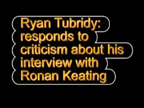 Ryan Tubridy responds to criticism about his interview with Ronan Keating on the Late Late Show