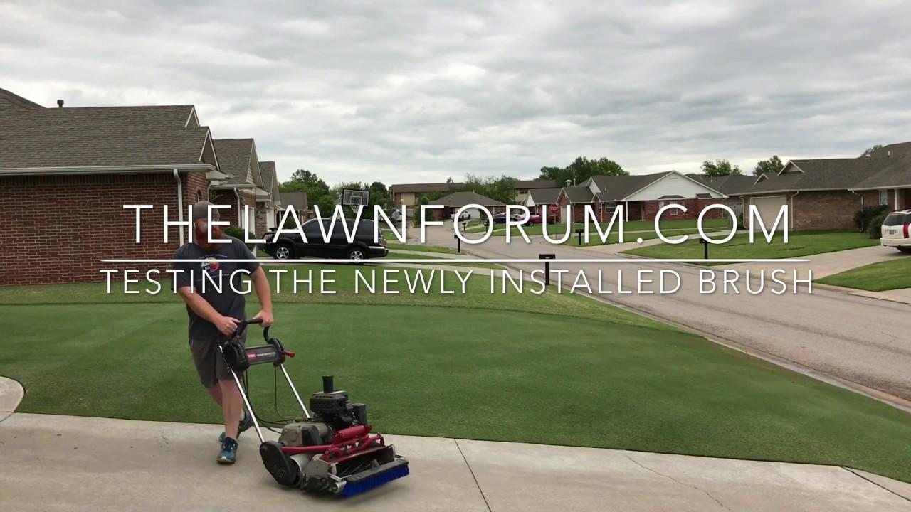 DIY Greens Mower Brush TEST for the Toro Flex21 Reel Mower