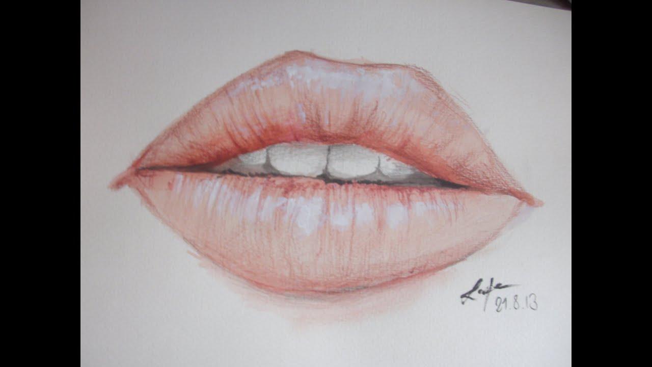 Realistic Lips Painting Nessiiia 12 Years Old Youtube