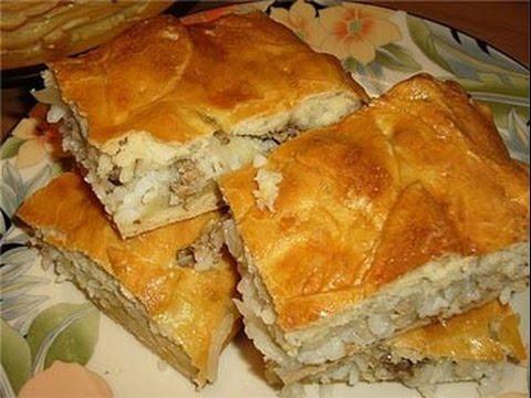 Пирог с рыбой и рисом (РЖЯ) - YouTube