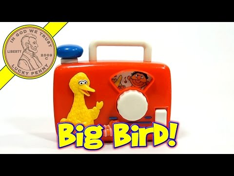 Sesame Street Big Bird Wind Up Radio, 1990 Illco Toys