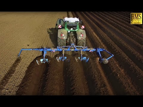 Kartoffeln pflanzen - drei Arbeitsschritte - Potato Planting, Bed Former, Separator & Potato Planter