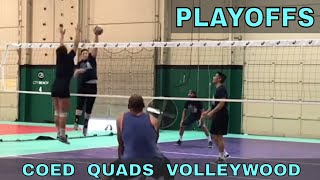 Playoffs - Coed Quads Volleywood Tournament (part 3/3)