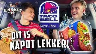 DEZE TACO'S ZIJN GEMAAKT VAN DORITOS! 🤭🇺🇸 (Taco Bell) | Tom & Mats in Amerika #2