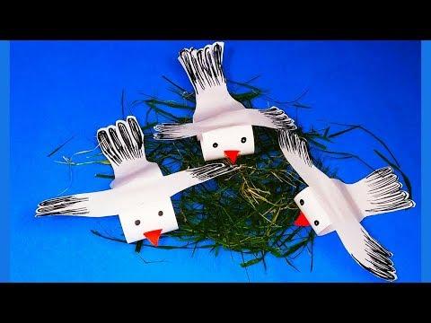 DIY ORIGAMI PIGEON CRAFT || DOVE CRAFT|| MOVING PIGEON PAPER CRAFT || FLYING PIGEON CRAFT