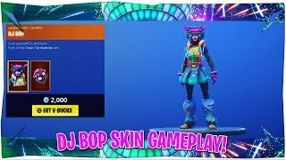 Fortnite DJ Bop Skin Gameplay!