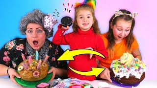 ALEXA PICKS OUR CAKE INGREDIENTS SWITCH UP CHALLENGE!!