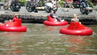 Kevin and Alyssa Bumper Boats -- Knoebels