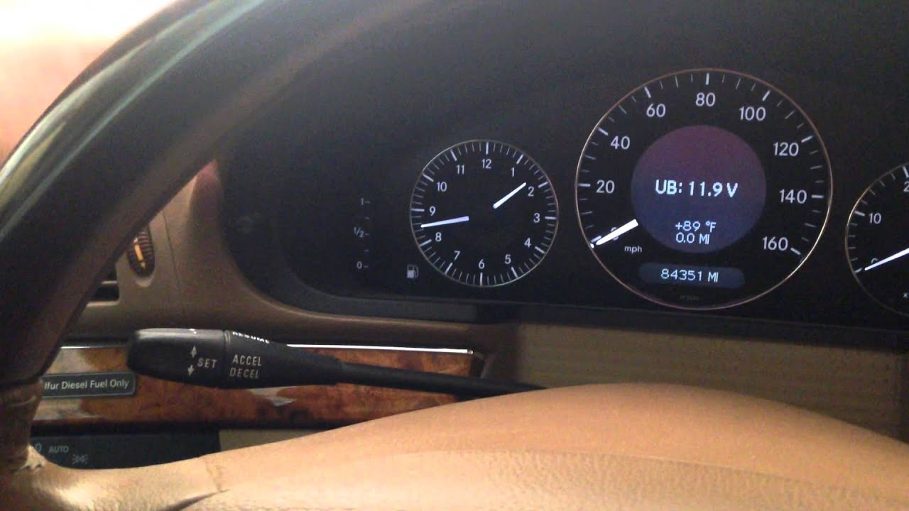 How To Reset Mercedes E Class Service Indicator