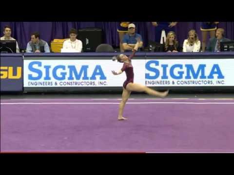 Haley Scaman Oklahoma 2016 Floor vs LSU 9.925