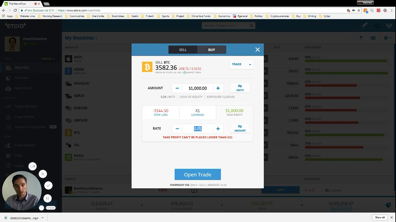 how to sell cryptocurrency on etoro