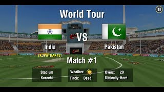 INDIA vs PAKISTAN  T20 match , ( world tour)  ,