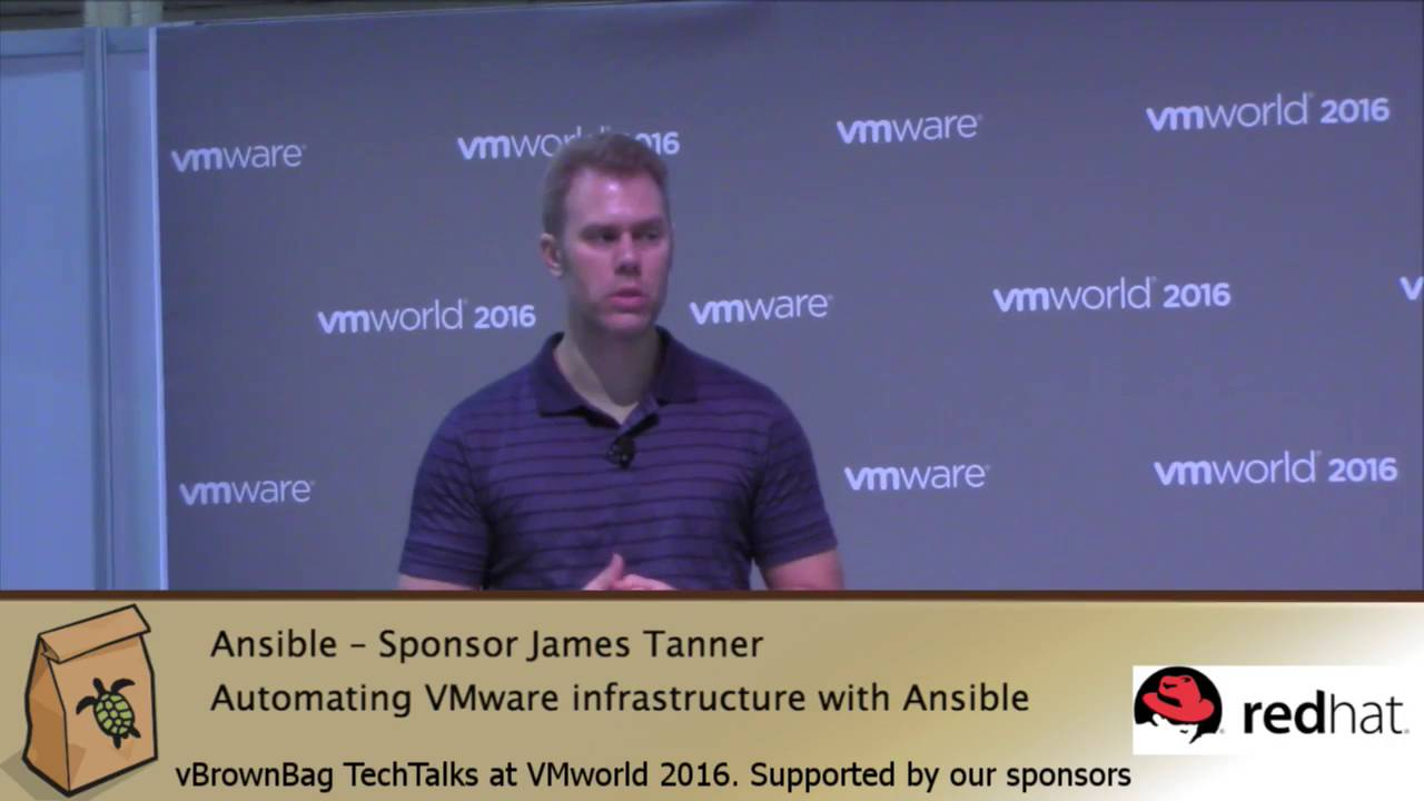 VMworld 2016 Automating VMware infrastructure with @Ansible James Tanner–