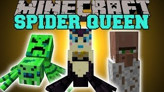 Minecraft: YOU ARE THE SPIDER QUEEN (CREATE YOUR OWN SPIDER ARMY!) Mod Showcase