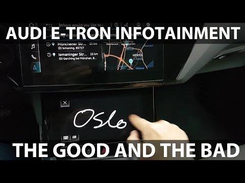 Playing around with Audi e-tron's infotainment system