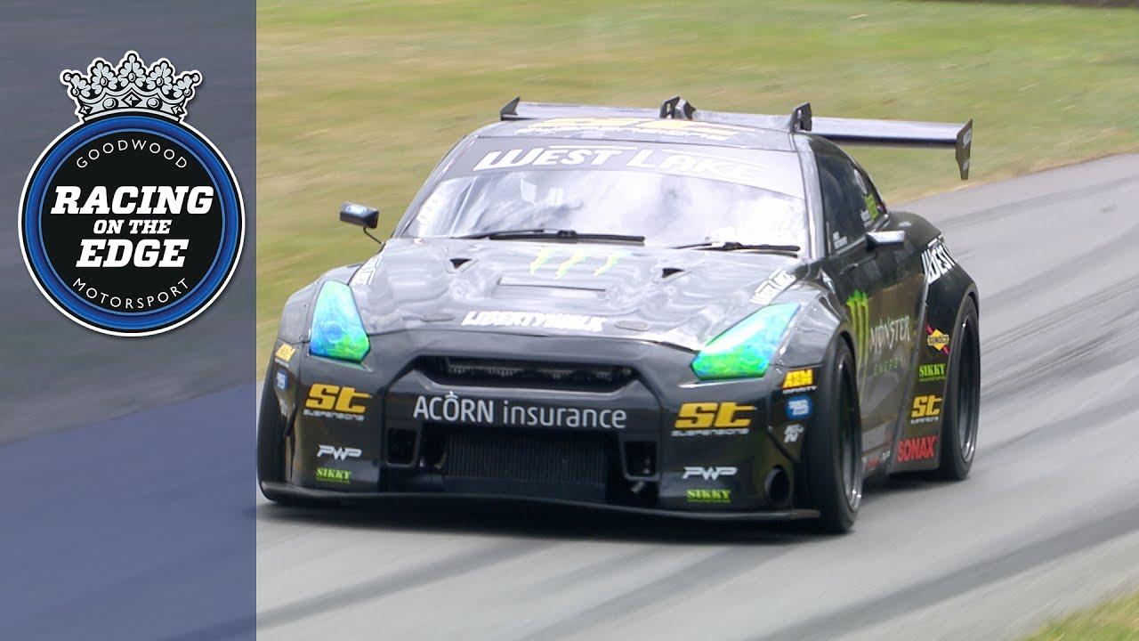 Video: Baggsy nails 1,200bhp GT-R drift run at FOS!