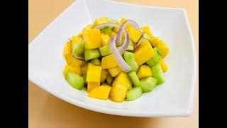 Простой салат с манго | Оригинальный салат с азиатской заправкой | Диетический рецепт