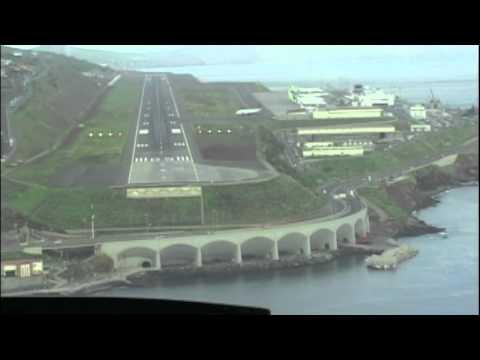 Funchal Rwy 05 Landing Cockpit A330