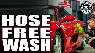 How to wash your car without a hose - rinse free wash & shine rinseless wash - chemical guys