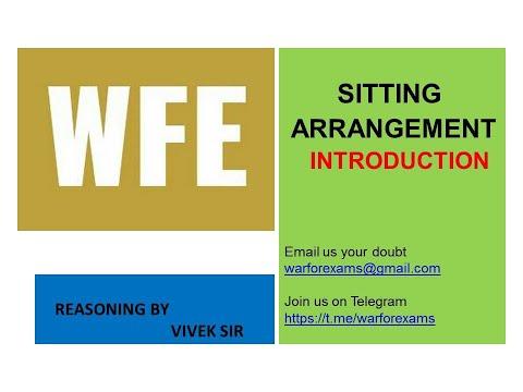 SITTING ARRANGEMENT INTRODUCTION (WFE 1)