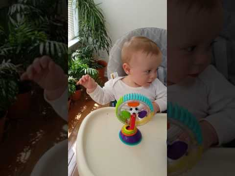 April 30th 2017 – Calvin in his high chair