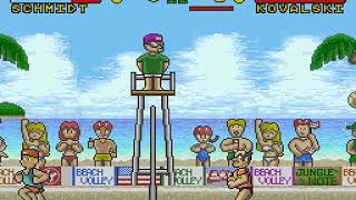 Inazuma Serve da! Super Beach Volley Japan FROM SNES SUPER NES HYPERSPIN NOT MINE VIDEOS