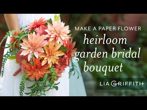 How to Make a Stunning Paper Bouquet with Dahlia Flowers and Frosted Paper Eucalyptus