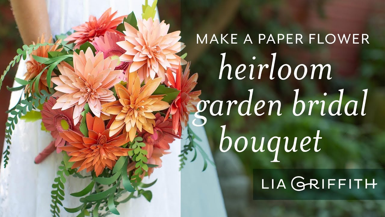 Video Tutorial: How to Arrange a Paper Flower Heirloom Bridal Bouquet