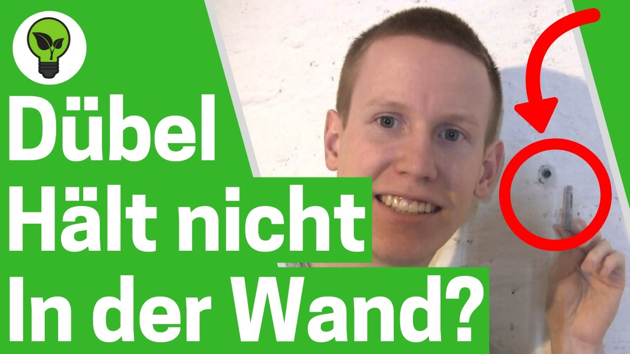 duebel haelt nicht  der wand ultimative loesung  tun