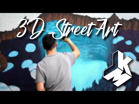 """3D Street Art """"Lost World Underwater"""""""