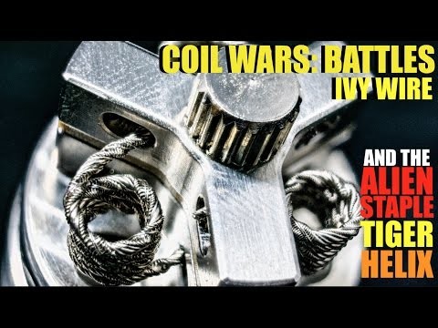 COIL WARS: BATTLES | Ivy Wire | How to Build an Alien Staple Tiger Helix Coil
