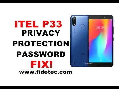 Itel P33 Privacy Protection Password Remove 100% FIX
