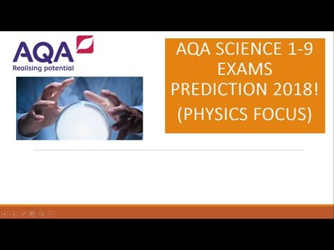 AQA 1-9 GCSE Science Exams 2018 Outline and predictions