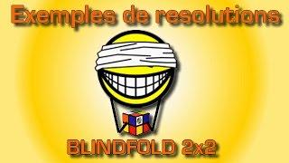 Rubik's Cube 2x2 Blindfolded (exemples de résolutions)