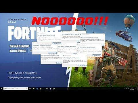 Solucionar Bad Module Info En Fortnite Y Otros Juegos