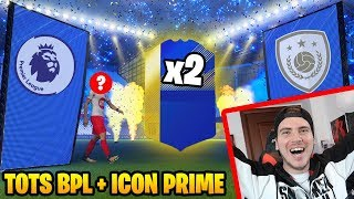 TROVO 2 TOTS + ICON PRIME!!! - TOTS BPL PACK OPENING! - FIFA 18 Ultimate Team