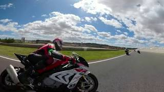 Troy Corser 360° GoPro Fusion onboard BMW S1000RR in Valencia during The Race Academy event