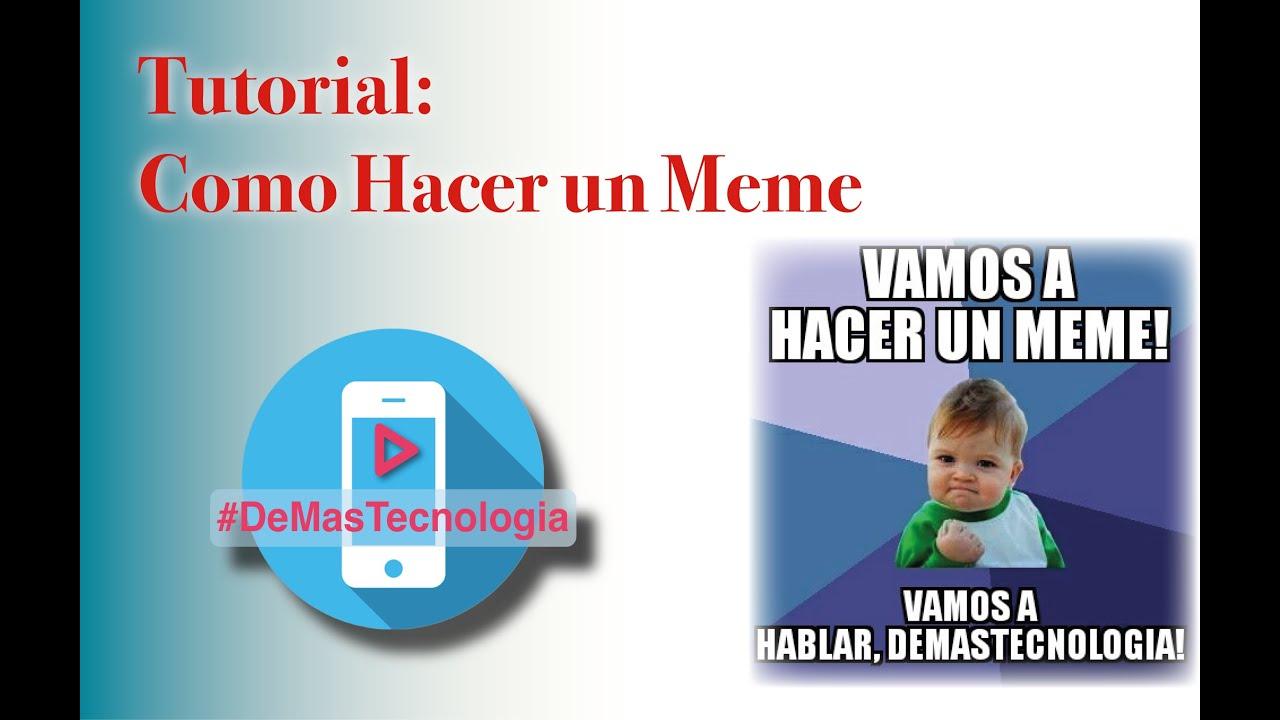 Tutorial: Como Hacer Memes Fácil Español YouTube