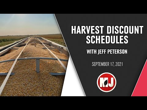 Harvest Discount Schedules | Jeff Peterson | September 17, 2021