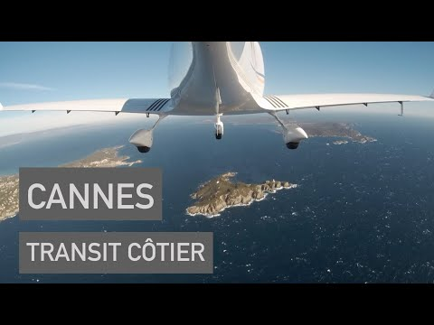 PPL ✈ Cannes via le transit côtier  Radio en anglais