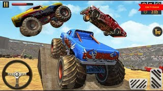 Monster Truck Demolition Derby Racing To Perform & Demolish Cars | Kids TV Channel
