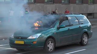 [Eerste beelden] Kortsluiting oorzaak autobrand Griffeweg Groningen