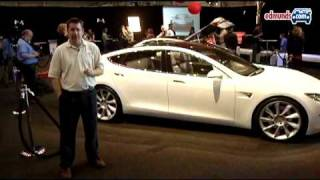 Tesla Sedan Unveiled!  Tesla Model S Hits the Road | Edmunds.com