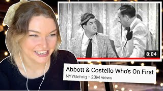 New Zealand Girl Reacts to ABBOTT & COSTELLO | WHO'S ON FIRST COMEDY SKIT 😂