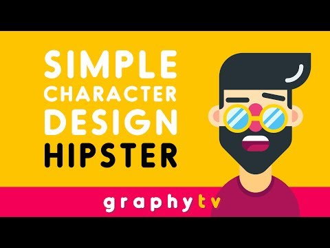 How to Draw a Hipster - Simple Flat Character - Illustrator