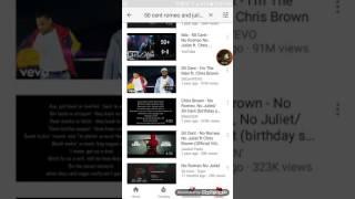 Shadow Sings: 50 cent No Romeo No Juliet ft Chris Brown  (lyrics)