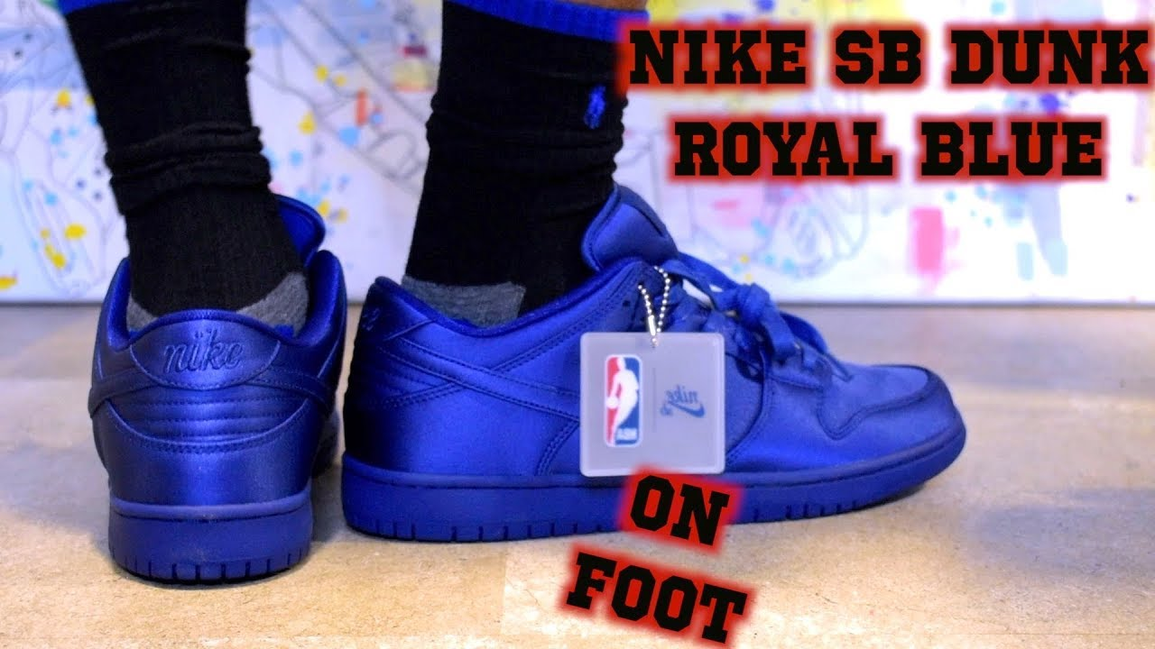 save off 84b6d 39c91 Nike SB Dunk NBA Deep Royal Blue ON FOOT