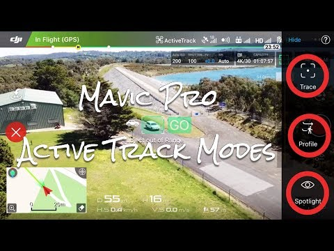 DJI Mavic Active Track Modes (Trace, Profile & Spotlight)