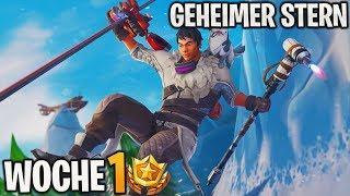 GEHEIMER Battle Pass Star dans la saison 7 Semaine 1 ⭐ (1 Niveau Bonus) Fortnite Battle Royale - France Detu Detu